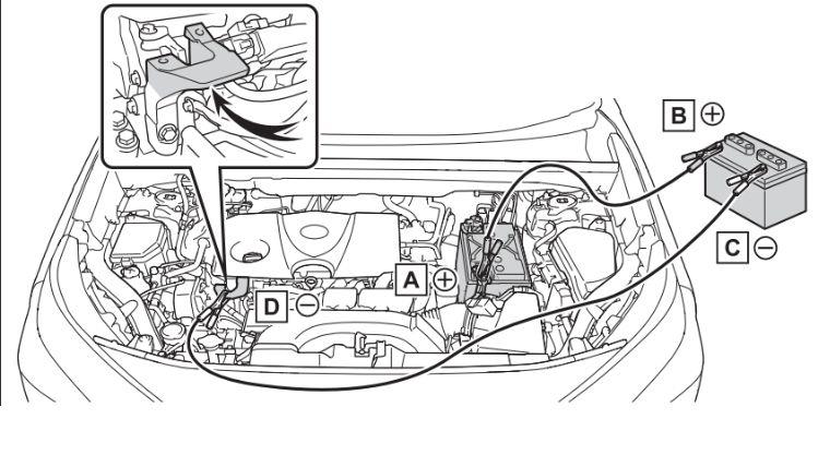 新型RAV4ガソリンモデルのバッテリーの場所を示した画像